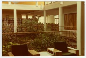 Primary view of object titled '[Atrium at the Emily Fowler Public Library}'.