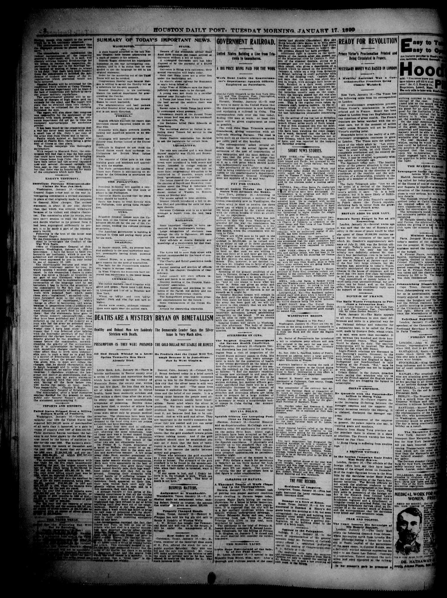 The Houston Daily Post (Houston, Tex ), Vol  14, No  290, Ed