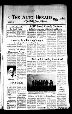 The Alto Herald and The Wells News 'N Views (Alto, Tex.), Vol. 91, No. 9, Ed. 1 Thursday, July 10, 1986