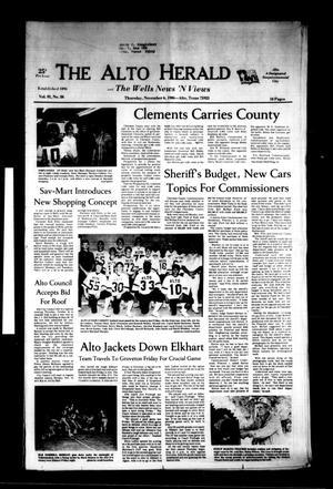The Alto Herald and The Wells News 'N Views (Alto, Tex.), Vol. 91, No. 26, Ed. 1 Thursday, November 6, 1986