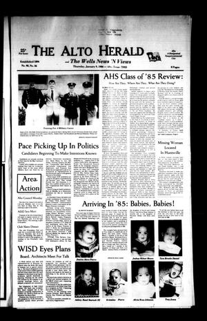 The Alto Herald and The Wells News 'N Views (Alto, Tex.), Vol. 90, No. 36, Ed. 1 Thursday, January 9, 1986
