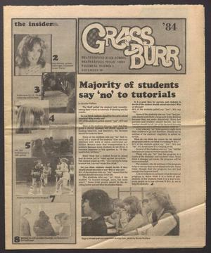 Primary view of Grass Burr (Weatherford, Tex.), Vol. 64, No. 4, Ed. 1 Friday, November 30, 1984