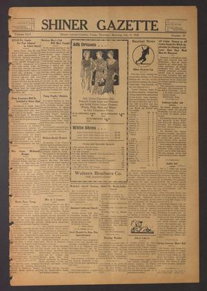 Primary view of object titled 'Shiner Gazette (Shiner, Tex.), Vol. 42, No. 29, Ed. 1 Thursday, July 11, 1935'.