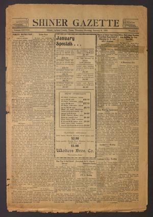Primary view of Shiner Gazette (Shiner, Tex.), Vol. 38, No. 6, Ed. 1 Thursday, January 8, 1931