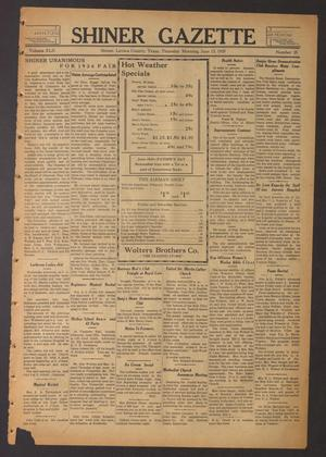 Primary view of object titled 'Shiner Gazette (Shiner, Tex.), Vol. 42, No. 25, Ed. 1 Thursday, June 13, 1935'.