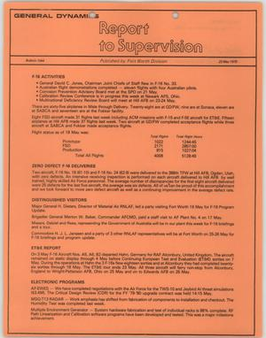 Primary view of object titled 'Convair Report to Supervision, Number 1044, May 23, 1979'.