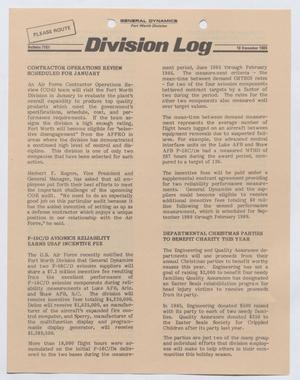 Primary view of object titled 'Division Log, Number 7151, December 10, 1986'.