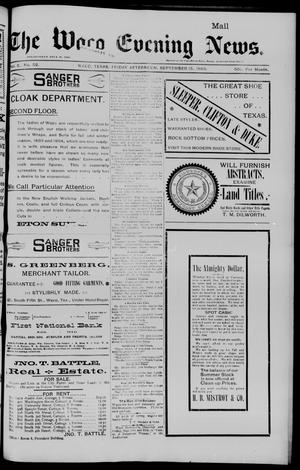 Primary view of object titled 'The Waco Evening News. (Waco, Tex.), Vol. 6, No. 52, Ed. 1, Friday, September 15, 1893'.
