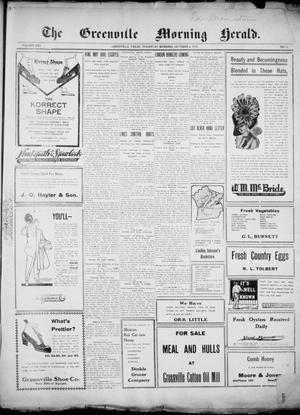 Primary view of object titled 'The Greenville Morning Herald. (Greenville, Tex.), Vol. 20, No. 31, Ed. 1, Thursday, October 6, 1910'.