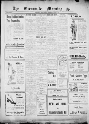 Primary view of object titled 'The Greenville Morning Herald. (Greenville, Tex.), Vol. 20, No. 32, Ed. 1, Sunday, October 9, 1910'.