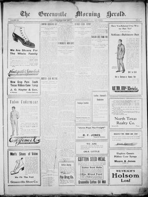 Primary view of object titled 'The Greenville Morning Herald. (Greenville, Tex.), Vol. 20, No. 81, Ed. 1, Saturday, December 3, 1910'.