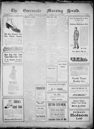 Primary view of object titled 'The Greenville Morning Herald. (Greenville, Tex.), Vol. 20, No. 82, Ed. 1, Sunday, December 4, 1910'.