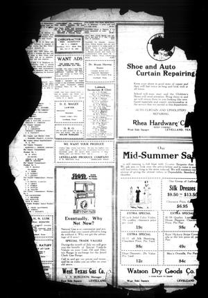 Primary view of object titled 'Hockley County Herald (Levelland, Tex.), Vol. [6], No. [50], Ed. 1 Friday, July 25, 1930'.