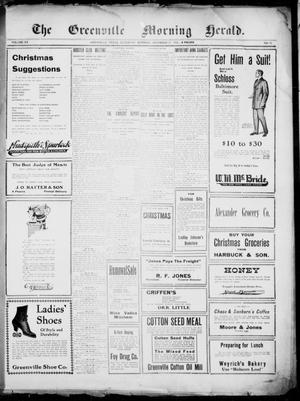 Primary view of object titled 'The Greenville Morning Herald. (Greenville, Tex.), Vol. 20, No. 93, Ed. 1, Saturday, December 17, 1910'.