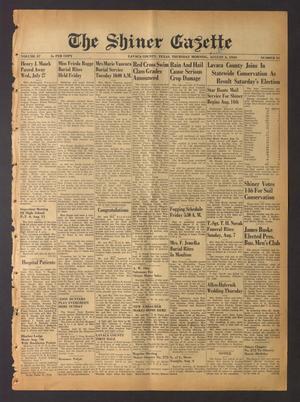 The Shiner Gazette (Shiner, Tex.), Vol. 57, No. 31, Ed. 1 Thursday, August 4, 1949