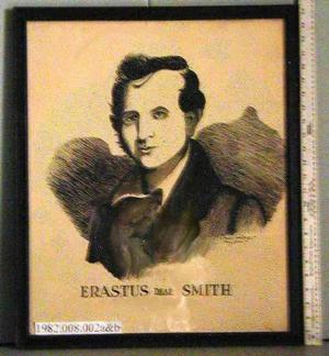 Primary view of object titled '[Black frame, drawing of Erastus Deaf Smith]'.