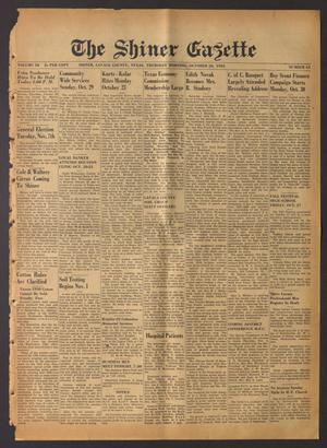 The Shiner Gazette (Shiner, Tex.), Vol. 58, No. 43, Ed. 1 Thursday, October 26, 1950