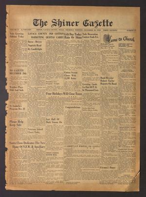 The Shiner Gazette (Shiner, Tex.), Vol. 57, No. 51, Ed. 1 Thursday, December 22, 1949