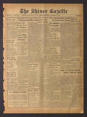 The Shiner Gazette (Shiner, Tex.), Vol. 57, No. 44, Ed. 1 Thursday, November 3, 1949