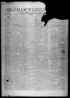 Primary view of object titled 'Brenham Weekly Banner. (Brenham, Tex.), Vol. 13, No. 1, Ed. 1, Friday, January 4, 1878'.