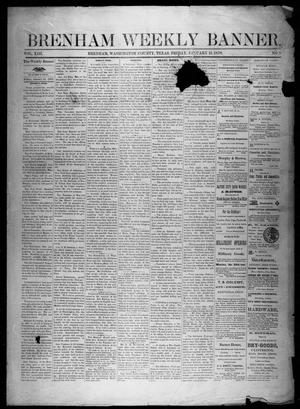 Primary view of object titled 'Brenham Weekly Banner. (Brenham, Tex.), Vol. 13, No. 2, Ed. 1, Friday, January 11, 1878'.
