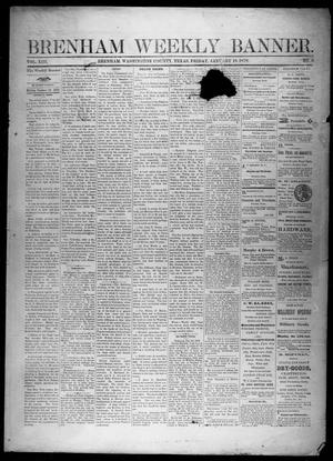 Primary view of object titled 'Brenham Weekly Banner. (Brenham, Tex.), Vol. 13, No. 3, Ed. 1, Friday, January 18, 1878'.