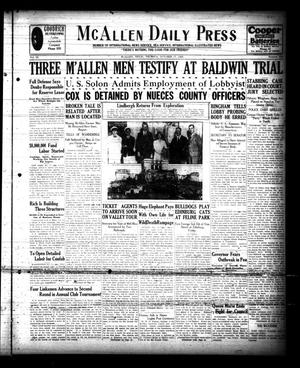 Primary view of object titled 'McAllen Daily Press (McAllen, Tex.), Vol. 9, No. 259, Ed. 1 Thursday, October 17, 1929'.