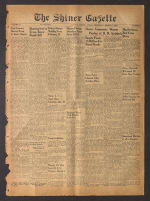 The Shiner Gazette (Shiner, Tex.), Vol. 57, No. 9, Ed. 1 Thursday, March 3, 1949