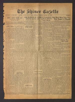 The Shiner Gazette (Shiner, Tex.), Vol. 58, No. 2, Ed. 1 Thursday, January 12, 1950
