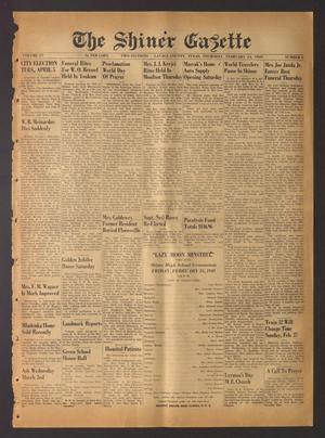 The Shiner Gazette (Shiner, Tex.), Vol. 57, No. 8, Ed. 1 Thursday, February 24, 1949