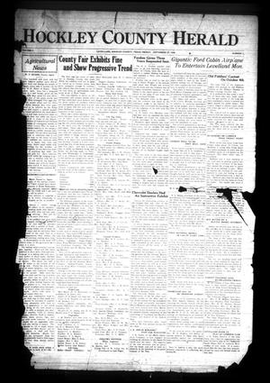 Primary view of object titled 'Hockley County Herald (Levelland, Tex.), Vol. 6, No. 7, Ed. 1 Friday, September 27, 1929'.
