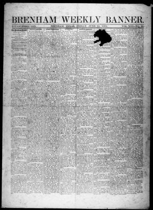 Primary view of object titled 'Brenham Weekly Banner. (Brenham, Tex.), Vol. 13, No. 24, Ed. 1, Friday, June 14, 1878'.