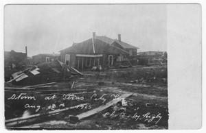 Primary view of object titled '[Photograph of Storm Damage at Texas City, Tex.]'.