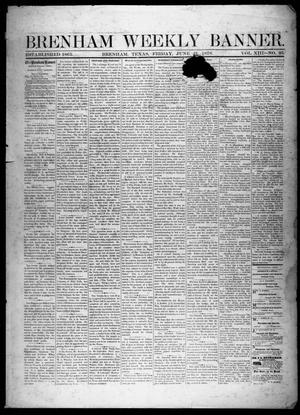 Primary view of object titled 'Brenham Weekly Banner. (Brenham, Tex.), Vol. 13, No. 25, Ed. 1, Friday, June 21, 1878'.