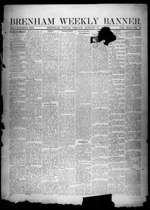 Primary view of object titled 'Brenham Weekly Banner. (Brenham, Tex.), Vol. 13, No. 34, Ed. 1, Friday, August 23, 1878'.