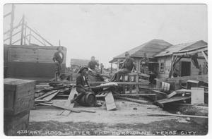 Primary view of object titled '4th Artillery Headquarters after the hurricane, Texas City'.