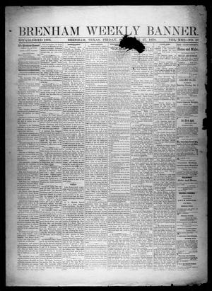 Primary view of object titled 'Brenham Weekly Banner. (Brenham, Tex.), Vol. 13, No. 39, Ed. 1, Friday, September 27, 1878'.