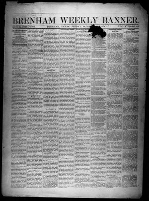 Primary view of object titled 'Brenham Weekly Banner. (Brenham, Tex.), Vol. 13, No. 42, Ed. 1, Friday, October 18, 1878'.