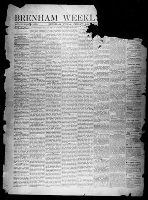 Primary view of object titled 'Brenham Weekly Banner. (Brenham, Tex.), Vol. 13, No. 52, Ed. 1, Friday, December 27, 1878'.