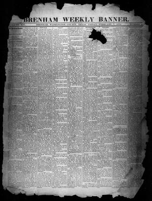 Primary view of object titled 'Brenham Weekly Banner. (Brenham, Tex.), Vol. 14, No. 6, Ed. 1, Friday, February 7, 1879'.