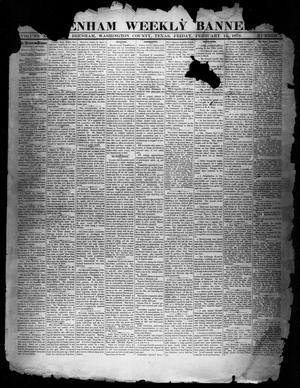 Primary view of object titled 'Brenham Weekly Banner. (Brenham, Tex.), Vol. 14, No. 7, Ed. 1, Friday, February 14, 1879'.
