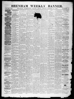 Primary view of object titled 'Brenham Weekly Banner. (Brenham, Tex.), Vol. 14, No. 41, Ed. 1, Friday, October 10, 1879'.