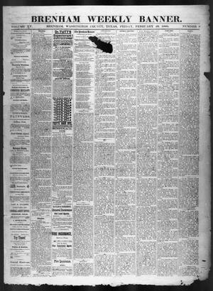 Brenham Weekly Banner. (Brenham, Tex.), Vol. 15, No. 8, Ed. 1, Friday, February 20, 1880