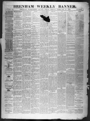 Primary view of object titled 'Brenham Weekly Banner. (Brenham, Tex.), Vol. 15, No. 9, Ed. 1, Friday, February 27, 1880'.