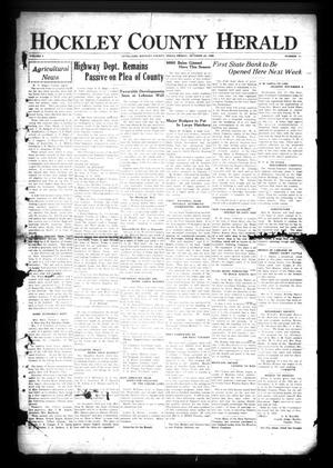Primary view of object titled 'Hockley County Herald (Levelland, Tex.), Vol. 6, No. 11, Ed. 1 Friday, October 25, 1929'.