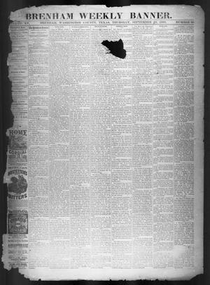 Brenham Weekly Banner. (Brenham, Tex.), Vol. 15, No. 39, Ed. 1, Thursday, September 23, 1880