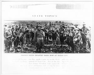 Primary view of object titled 'Twenty-sixth Infantry Band now at Texas City'.