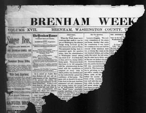 Primary view of object titled 'Brenham Weekly Banner. (Brenham, Tex.), Vol. 17, No. 24, Ed. 1, Thursday, June 15, 1882'.