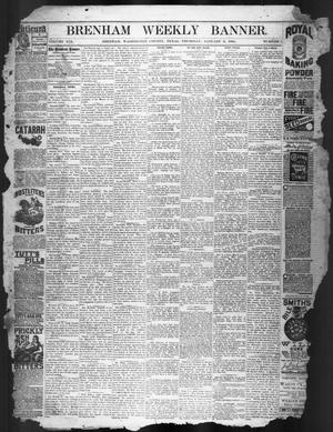 Primary view of object titled 'Brenham Weekly Banner. (Brenham, Tex.), Vol. 19, No. 1, Ed. 1, Thursday, January 3, 1884'.