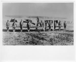 Primary view of object titled 'Aviation field and machines First Aero Squadron Texas'.